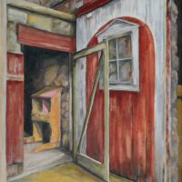 Chicken Coop | Oil | 20 x 16"