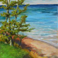 "Superior Shoreline | Oil | 14 x 11"" | $175 | Mary Beth Day"