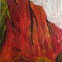 "Monolith | Acrylic | 28.5 x 22"" | $300 | Barbara Gilbert"