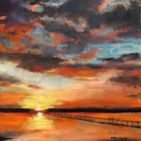 "Sunrise at the Lake | Pastel | 12 x 9"" | $325 | Linda Klenczar"