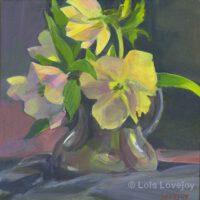 "Hellebore | Corona Series #13 | Acrylic | 8 x 8"" | $190 | Lois Lovejoy"