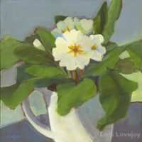 Cup of Primroses | Corona Series #4 | Acrylic | 8 x 8"