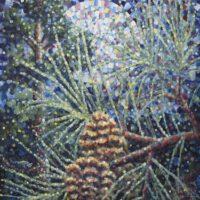 "Full Moon & Raccoon | Acrylics | 40 x 30"" | $875 | Jim Rehlin"