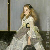 "Miss Cicely | Oil | 20 x 10"" | $300 | Toni Stevenson"
