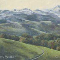 "Hazy Hills | Acrylic | 12 x 15"" | $350 | Marty Walker"