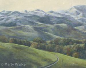 Hazy Hills | Acrylic | 12 x 15"