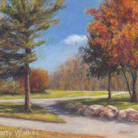 "Sunny Autumn Day | Acrylic | 12 x 15"" | $350 | Marty Walker"