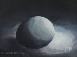 EGGscanaba in da Moonlight | Oil | 6.25 x 8.25"