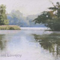 Morning on the Lake | Pastel | 11x14"