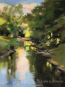 Sky River | Pastel | 12x9"